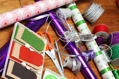 Wrapping Gifts Royalty Free Stock Image