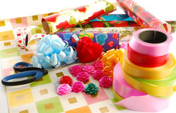 Wrapping Gifts Royalty Free Stock Photo