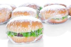 Wrapping Hamburger Stock Photo