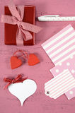 Wrapping Happy Valentines Day gifts Stock Image