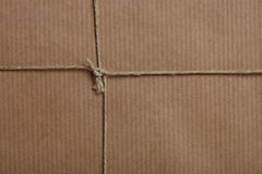 Wrapping Paper. Close up view of a parcel stock images