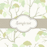 Wrapping paper. With ginkgo ornament Stock Images