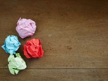 Paper ball,Recycle paper background,concept crumpled paper texture royalty free stock images
