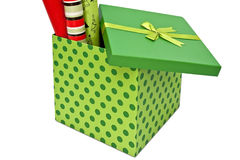 Wrapping Paper in Box Royalty Free Stock Photos