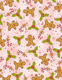 Wrapping paper with christmas elements,  Stock Photography