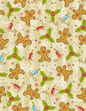 Wrapping paper with christmas elements, stock illustration