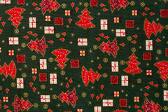 Wrapping paper with christmas elements. Stock Photography