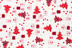 Wrapping paper with christmas elements. Stock Photo