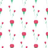 Wrapping Paper Design with Red Flowers Vector. Wrapping paper design with red flowers, endless texture. Seamless pattern with luxury bouquet of roses isolated on Royalty Free Stock Photos