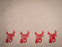 Wrapping paper with motive, red, stamped Royalty Free Stock Image
