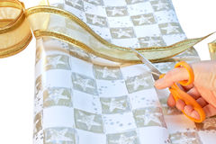 Wrapping paper & ribbon stock photos