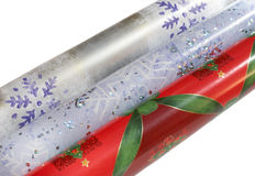 Wrapping paper rolls Royalty Free Stock Photos