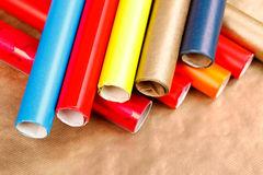 Wrapping paper rolls Royalty Free Stock Image