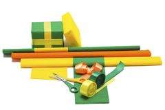Gift wrapping Stock Image