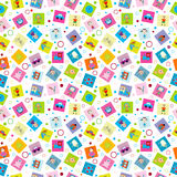 Wrapping paper with toys for kids Stock Photo