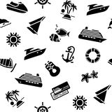 Wrapping paper - transport icons, 10eps Stock Photos