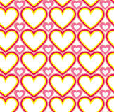 Wrapping paper Valentines Day. Heart shape seamless background Stock Photo