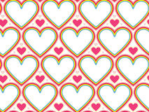 Wrapping paper Valentines Day. Heart shape seamless background Stock Images