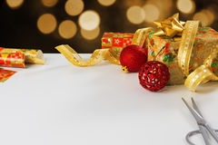 Wrapping Presents Stock Photography