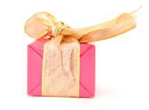 Wrapping red gift Royalty Free Stock Image