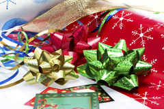 Wrapping it up for Christmas Royalty Free Stock Photo