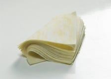 Wrappings da farinha de Wantan Imagens de Stock