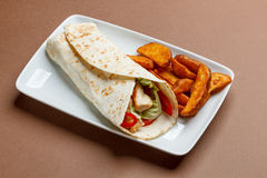 Wraps with chicken Royalty Free Stock Photography