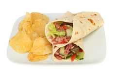 Wraps and crisps Stock Image