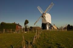 Wrawby Post Mill, Wrawby, Lincolnshire, UK. Stock Photo