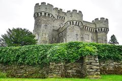 The Wray Castle near Lake Windermere in Cumbria, England Royalty Free Stock Image