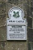 Wray Grodowy pobliski Jeziorny Windermere w Cumbria, Anglia Obraz Royalty Free