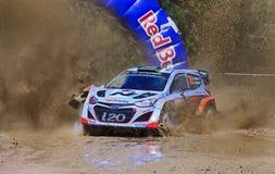 WRC天3前面飞溅门 免版税库存照片