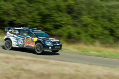 WRC德国2015年- Sebastien Ogier - Panzerplatte 免版税库存图片