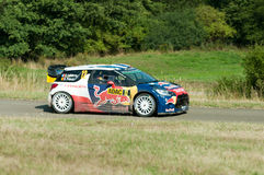 WRC Германия 2015 - Stephane Lefebvre - Panzerplatte Стоковое Изображение