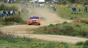 WRC 2008 - Rally d'Italia - Sardegna. WRC 2008 - World Rally Championship - Rally d'Italia - Sardegna - 15/18 May 2008 - SS Punta Pianedda - Driver Henning Royalty Free Stock Image