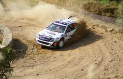 WRC 2009 - Rally D'Italia Sardegna. WRC 2009 - World Rally Championship - Rally d'Italia - Sardegna - 21/24 May 2009 - Shakedown 21-05-2009 - Driver Solberg Stock Image