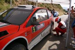 WRC 2009 - Sammlung D'Italia Sardegna stockbilder