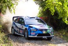 WRC 2009 - Sammlung D'Italia Sardegna stockfotografie