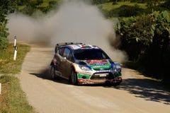 WRC 2011 Rally D'Italia Sardegna - AL QASSIMI. WRC 2011 - World Rally Championship - Rally d'Italia - Sardegna - 5/8 May 2011 - Driver AL QASSIMI KHALID - FORD stock image