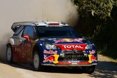 WRC 2011 Rally D'Italia Sardegna - LOEB. WRC 2011 - World Rally Championship - Rally d'Italia - Sardegna - 5/8 May 2011 - Driver LOEB SEBASTIEN - CITROEN DS3 WRC royalty free stock photo