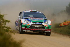 WRC 2011 Sammlung D'Italia Sardegna - AL QASSIMI Lizenzfreie Stockfotografie