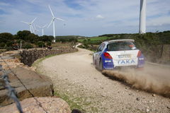WRC 2012 Rally D'Italia Sardegna - COSTENARO G. Stock Image