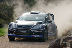 WRC 2012 Rally D'Italia Sardegna - TANAK Royalty Free Stock Photo
