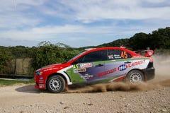 WRC 2012 samlar D'Italia Sardegna - AKSA Royaltyfri Foto