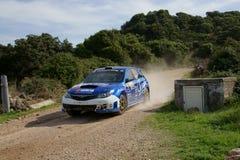 WRC 2012 Zlotny d'Italia Sardegna - LANDA DANIEL zdjęcie stock