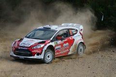 WRC 2012 Zlotny d'Italia Sardegna - NOVIKOV EVGENY zdjęcia stock