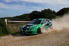 WRC 2012 Zlotny d'Italia Sardegna - PROTASOV YURYI zdjęcie stock