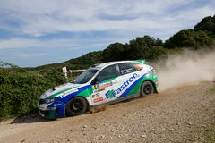 WRC 2012 Zlotny d'Italia Sardegna - SUNGKAR RIFAT zdjęcie stock