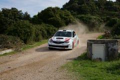 WRC 2012 Zlotny d'Italia Sardegna - TRIVINO BUJALIL zdjęcie stock