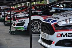 WRC Alemania 2015 - reasy para el servicio en Servicepark Fotos de archivo